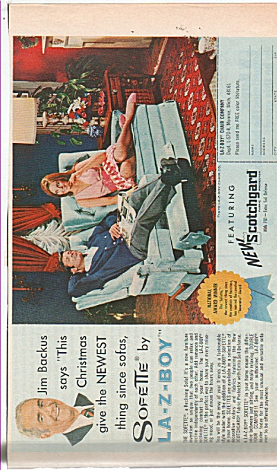 La-z-boy chair company - JIM BACHUS ad 1970 (Image1)
