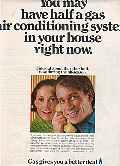 Gas Air Conditioning System Ad 1970