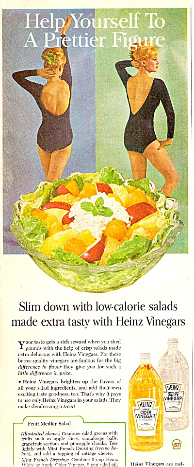 Heinz Cidar And White Vinegar Ad 1963