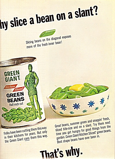 Green Giant Green Beans Ad 1964