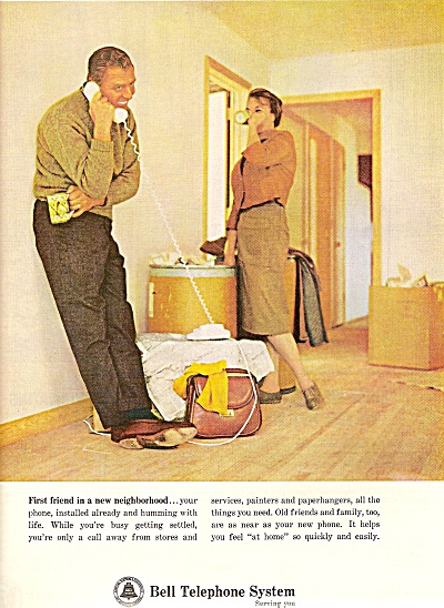 `Bell Telephone system ad 1964 NEW IN NEIGHBORHOOD (Image1)