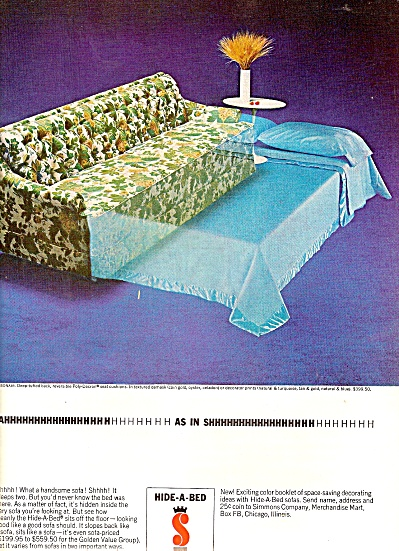 Simmons Hide a bed ad 1964 (Image1)