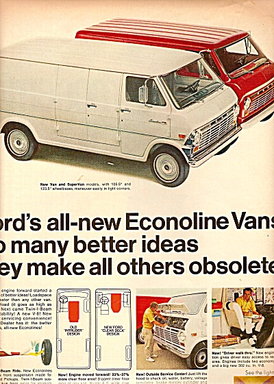 Ford Econolione Vans Ad 1968