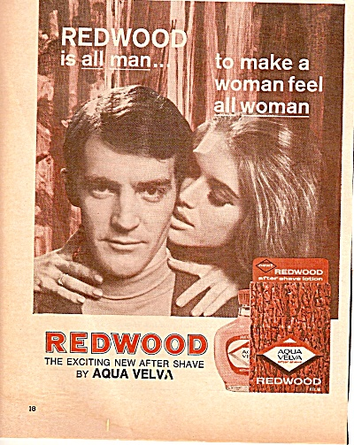 Redwood After Shave Ad 1968