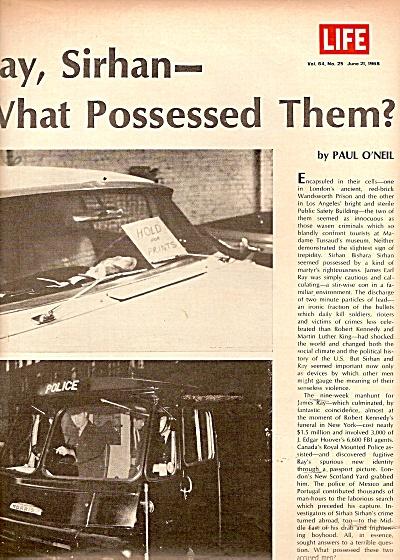 EARL  RAY & SIRHAN SIRHAN  story 1968 (Image1)