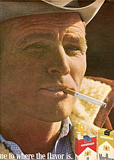 Marlboro MAN COWBOY WHOOO  cigarettes ad 1968 (Image1)