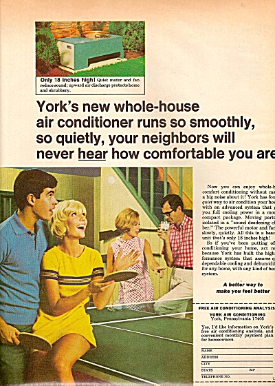 York - Borg Warner Air Conditioner Ad 1968