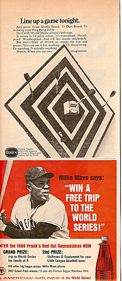 REd  Hot sauce - WILLIE MAYS ad  1968 (Image1)