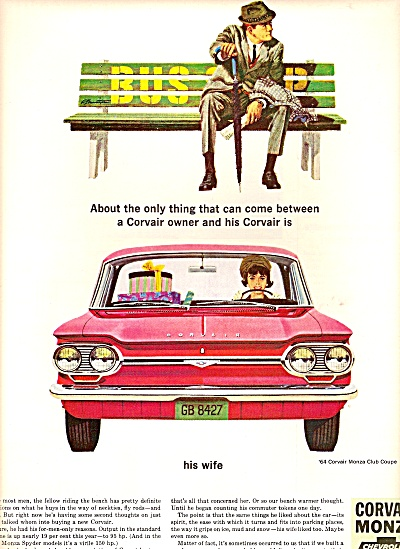 Chevrolet Corvair monza ad 1964 CLUB COUPE (Image1)