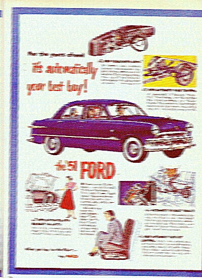 Ford Motor Car For 1951 Ad