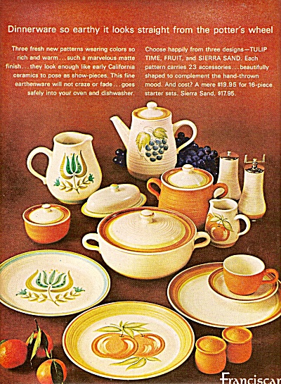 Franciscan earthenware ad 1964 (Image1)