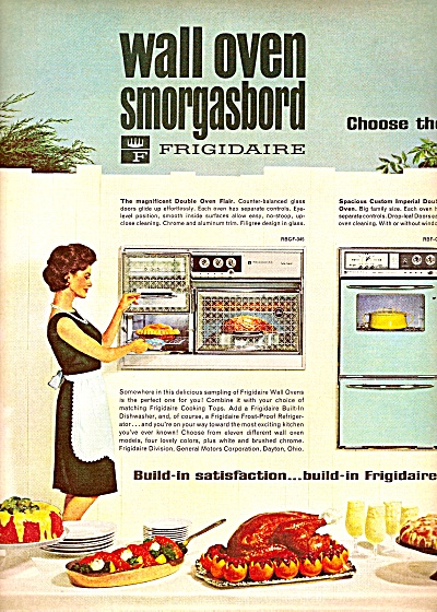 Frigidaire wall oven smorghasbord ad 1964 (Image1)