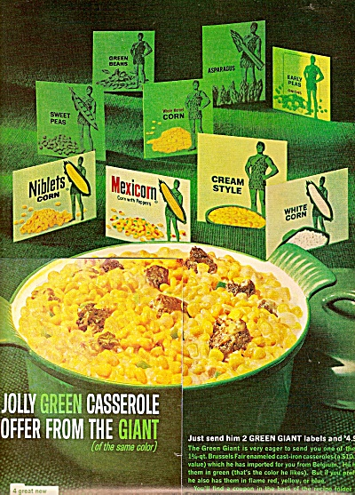Green Giant Casserole Ad 1964