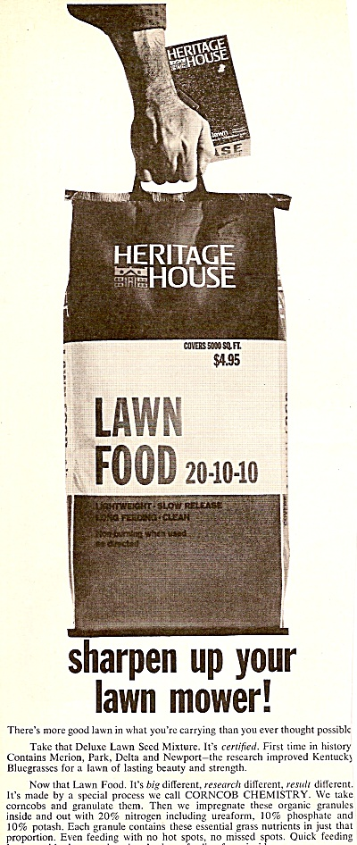 Heritage house lawn food ad 1964 (Image1)