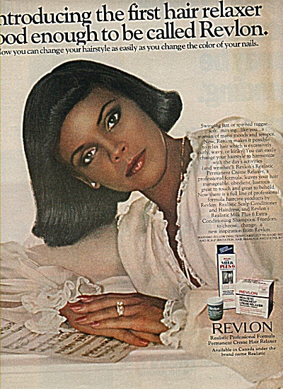 Revlon Hair Relaxer Ad 1978 Black Model