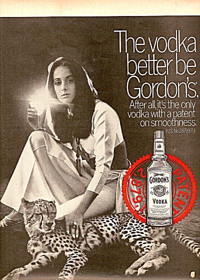Gordons Vodka Ad 1969