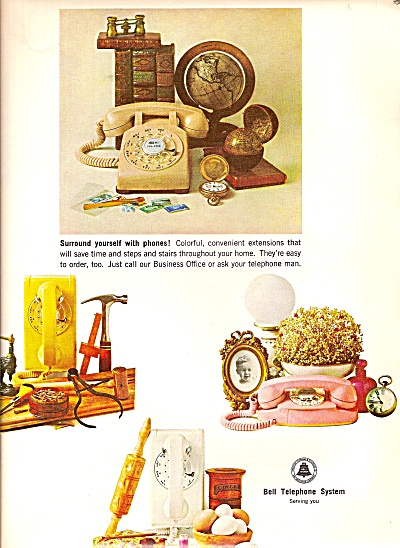 Bell Telephone system ad 1964 SURROUND YOURSELF (Image1)