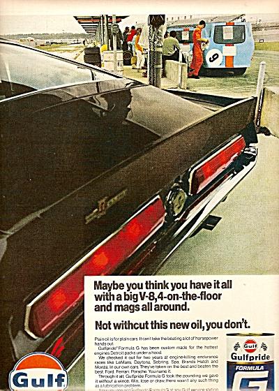 Gulf motor oil ad 1968 (Image1)