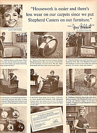 Shepherd Casters ad - JUNELOCKHART  AD 1968 (Image1)