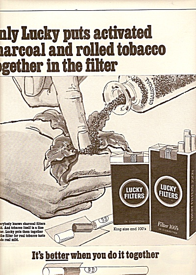 Lucky filters cigarettes ad 1968 (Image1)