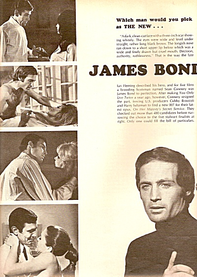 Picking the new JAMES BOND  story 1968 (Image1)