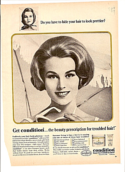 Condition Treatment By Clairol Ad 1965