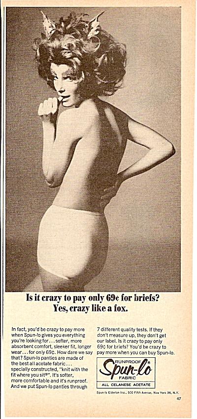 Spun lo fabrics ad 1965 WOMAN IN UNDERWEAR (Image1)
