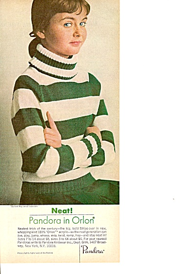 Pandora in orlon ad 1965 (Image1)