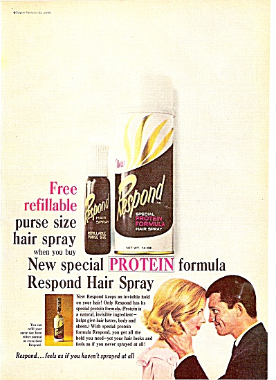 Respond  hair spray ad 1965 (Image1)