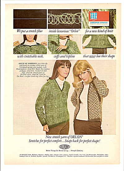 Dupont yarn of orlon ad 1965 Fashion Models (Image1)