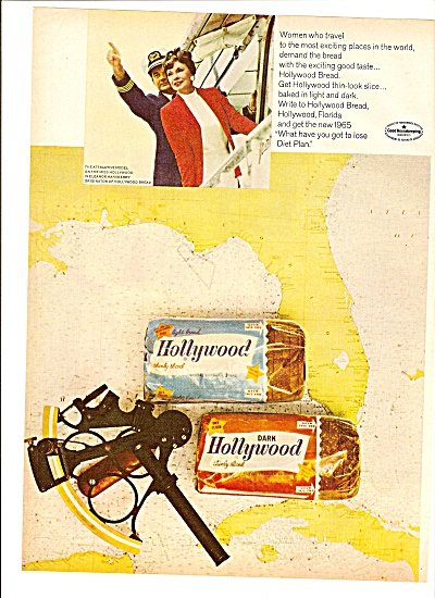 Hollywood Bread Ad 1965