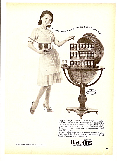 Watkins Products Ad 1965