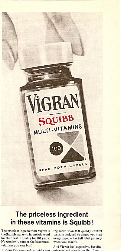 Vigran squibb multi vitamins aD 1963 (Image1)