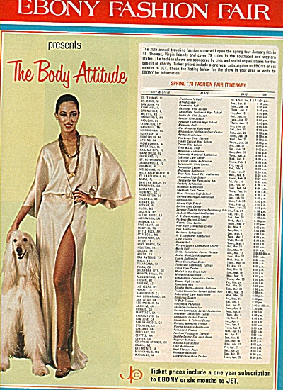 Ebony Fashion fair ad  - 1960 (Image1)