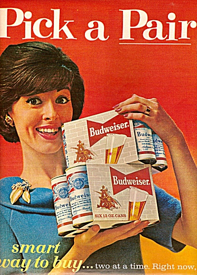 Budweiser beer ad 1963 PICK A PAIR (Image1)