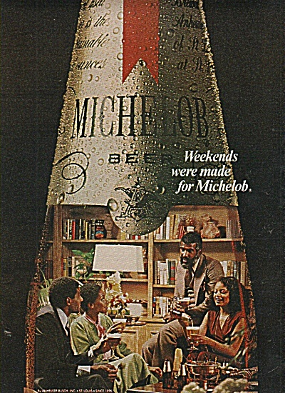 Michelob Beer Ad 1960