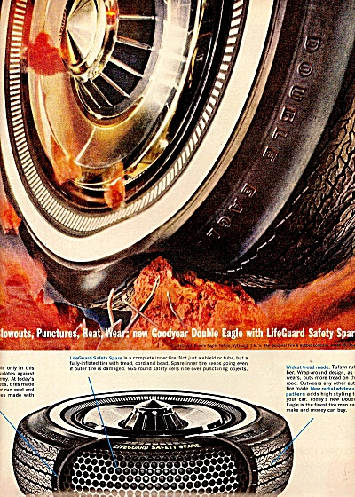 1963 Goodyear Double Eagle Promo Tire Ad