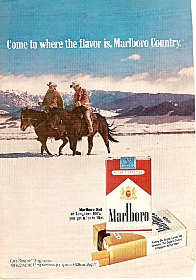 Marlboro cigarettes ad 1972 WHOO HOO COWBOY (Image1)