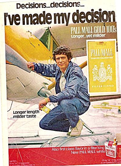 Pall Mall cigarettes ad 1972 (Image1)