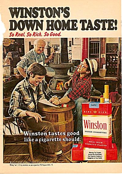 Winston's cigarettes ad 1972 (Image1)