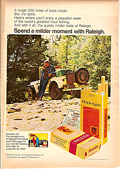 Raleigh cigarettes ad 1972 (Image1)