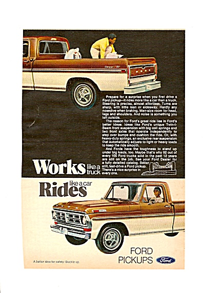 Ford pickup trucks ad 1972 (Image1)