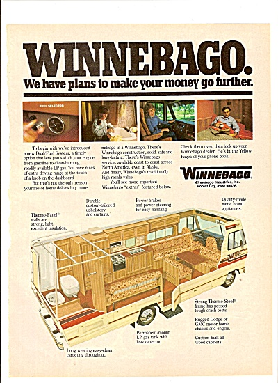 Winnebago Vehicle Ad 1980
