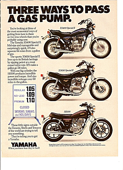 Yamaha motorcycles ad 1980 (Image1)