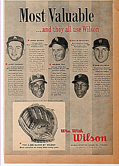 Wilson sporting goods ad 1960 (Image1)
