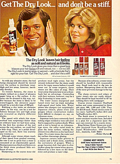 The Dry Look hair formula   ad 1980 (Image1)