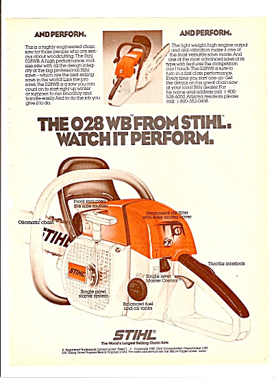 Stihl chain saw ad 1980 (Image1)