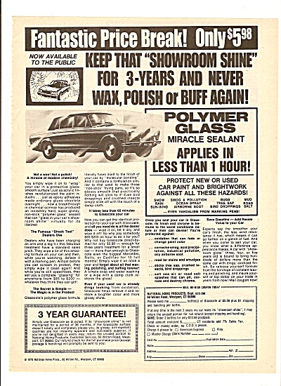 Polymer glass miracle sealant ad 1980 (Image1)