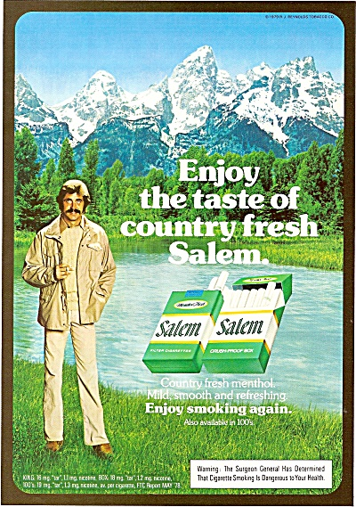 Salem cigarettes ad 1980 COUNTRY MAN (Image1)