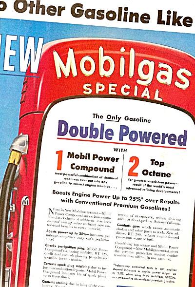 Mobilgas gas  ad 1954 (Image1)